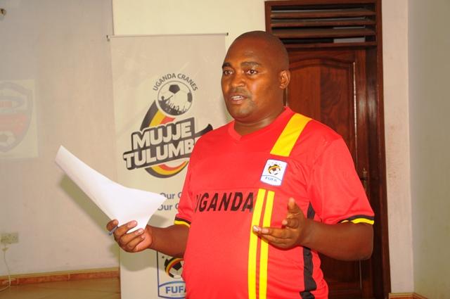UPL Chief Executive Officer (CEO), Bernard Bainamani Bernard (BBB) during a club management course at the FUFA Technical center, Njeru