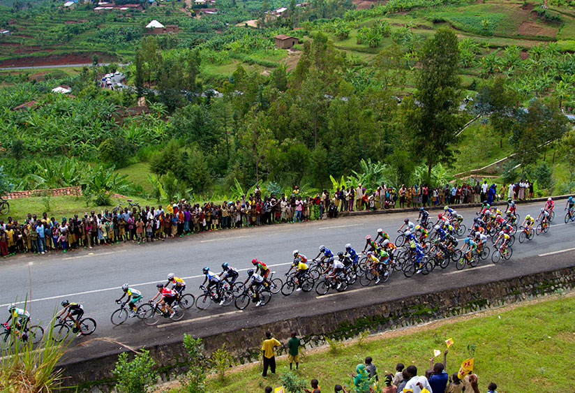 Riders at the Kanogo - Ngororero section