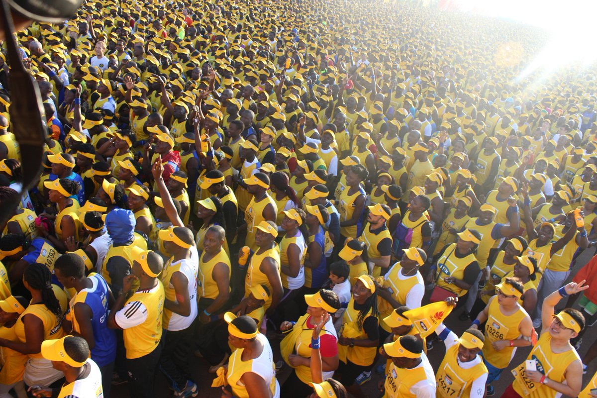 Kampala City was buried in a sea of yellow at the 2016 marathon