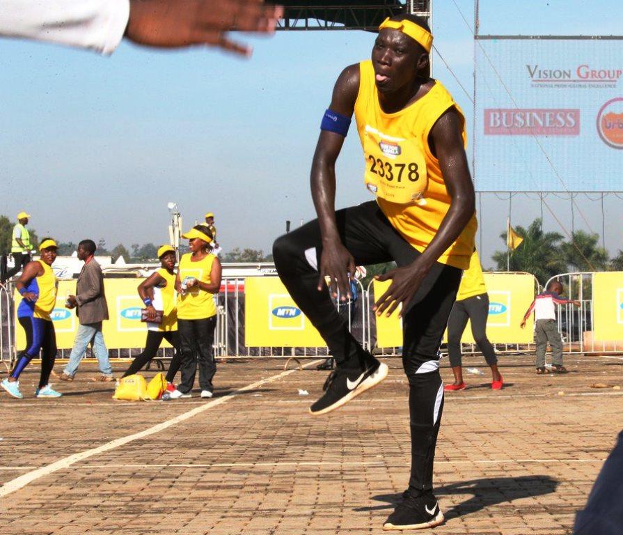 KCCA FC captain, Dennis Okot Oola led the rest of his club-mates at the Marathon