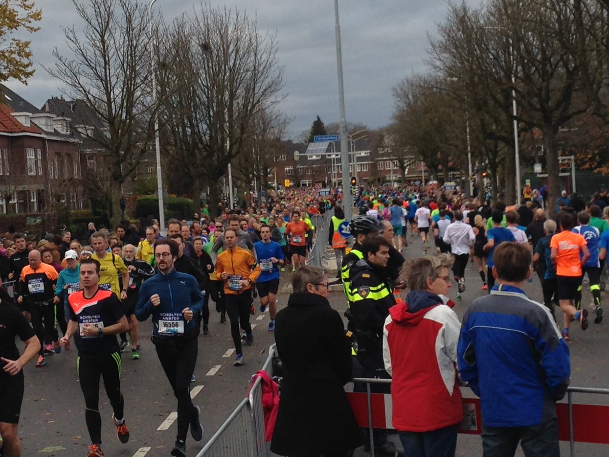 Runners in the Netherlands road race