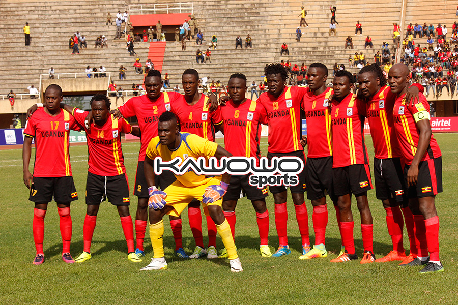 Uganda Cranes starting XI against Congo Brazzaville at Namboole