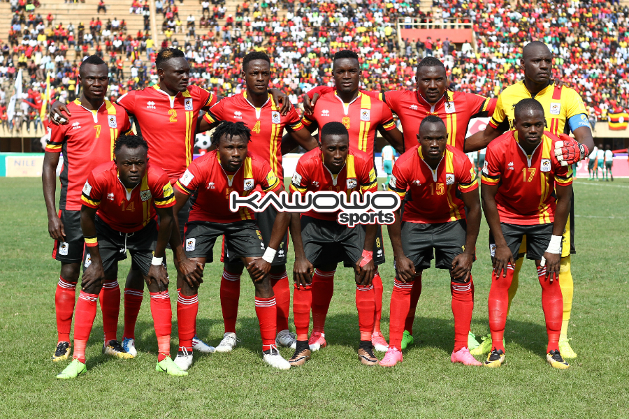 Kawowo Sports | JOHN BATANUDDEUganda Cranes line against Egypt at Namboole on 31st August 2017