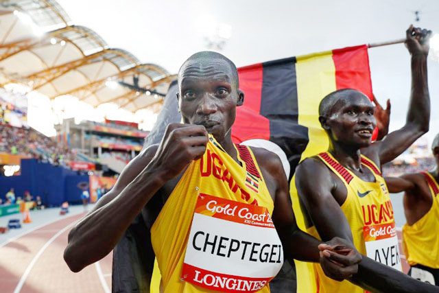 Ugandans applaud Cheptegei after gold win at on-going 2018 Commonwealth Games