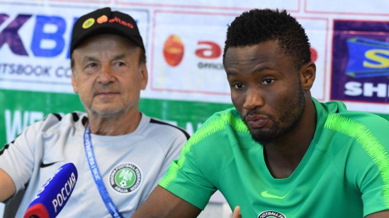 Nigeria Vs Algeria: Battle of titans at Cairo International stadium #Uganda Rohr and Obi Mikel
