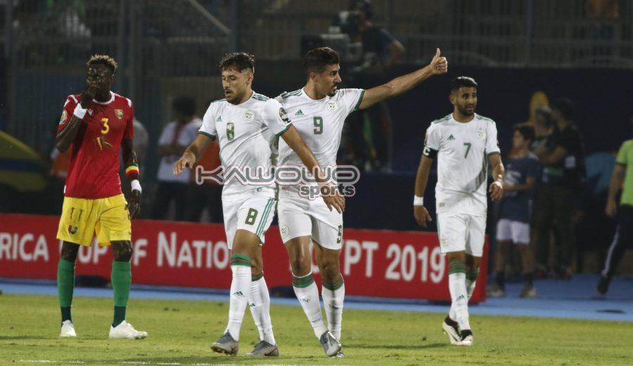 Nigeria Vs Algeria: Battle of titans at Cairo International stadium #Uganda Algeria celebrate1 900x521