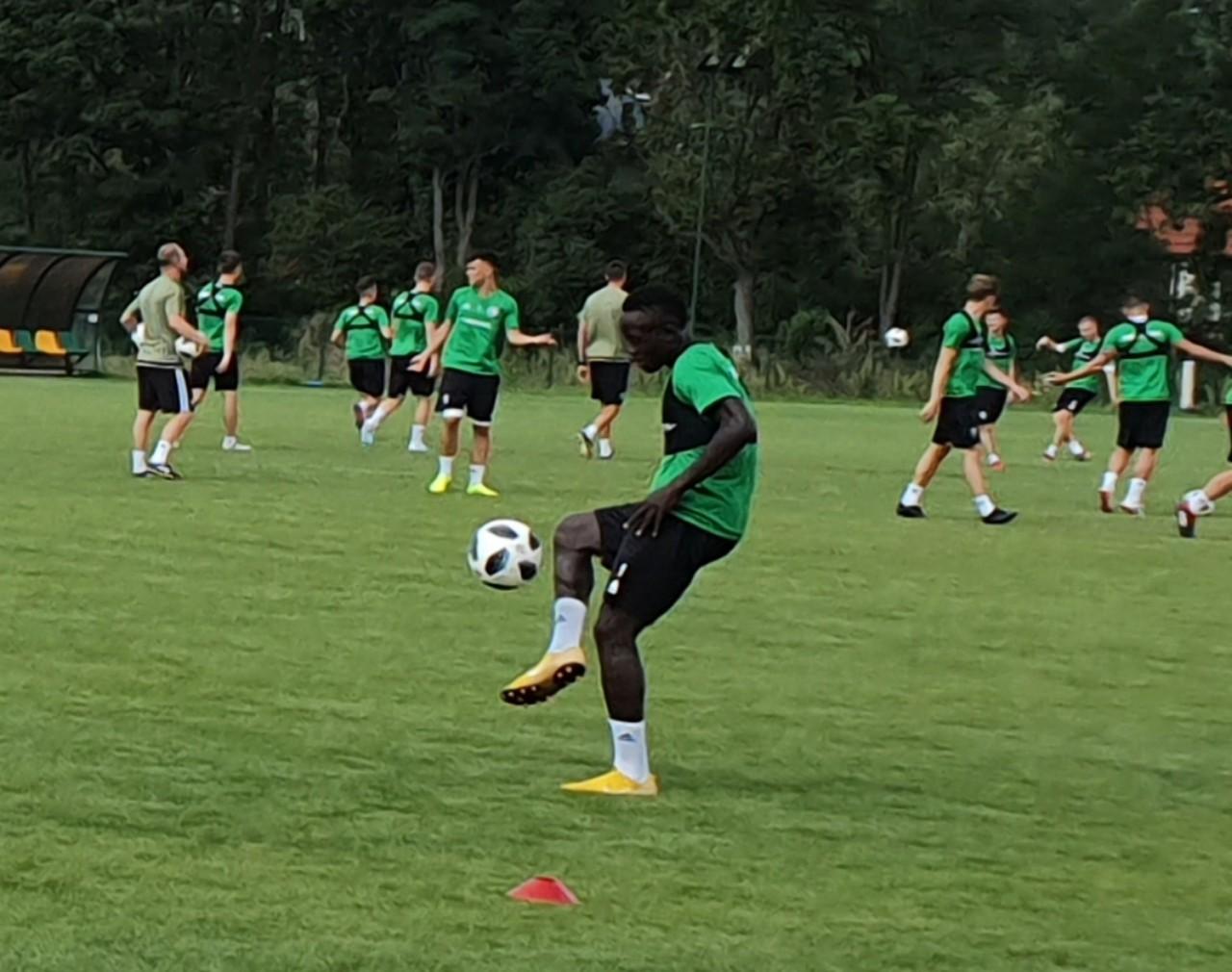 Ugandan duo training with Polish most successful football club