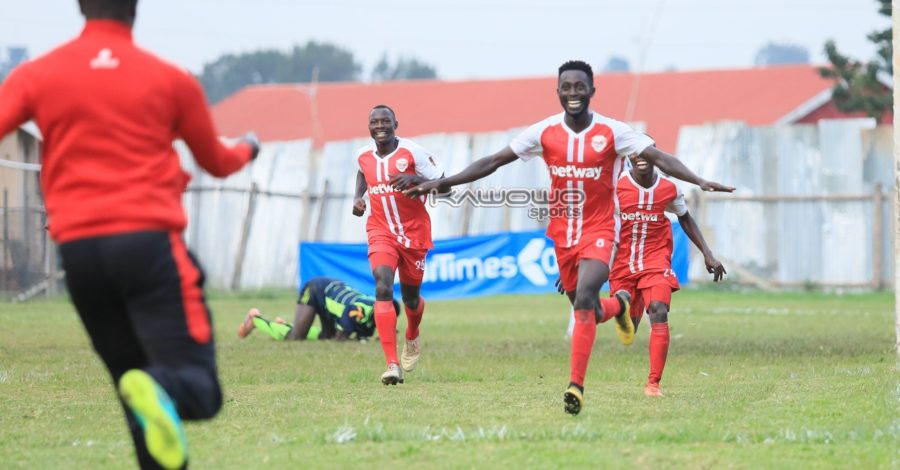 Express edge Mbarara City in five-goal thriller at Luzira #Uganda Daniel Shabena celebrates 900x470