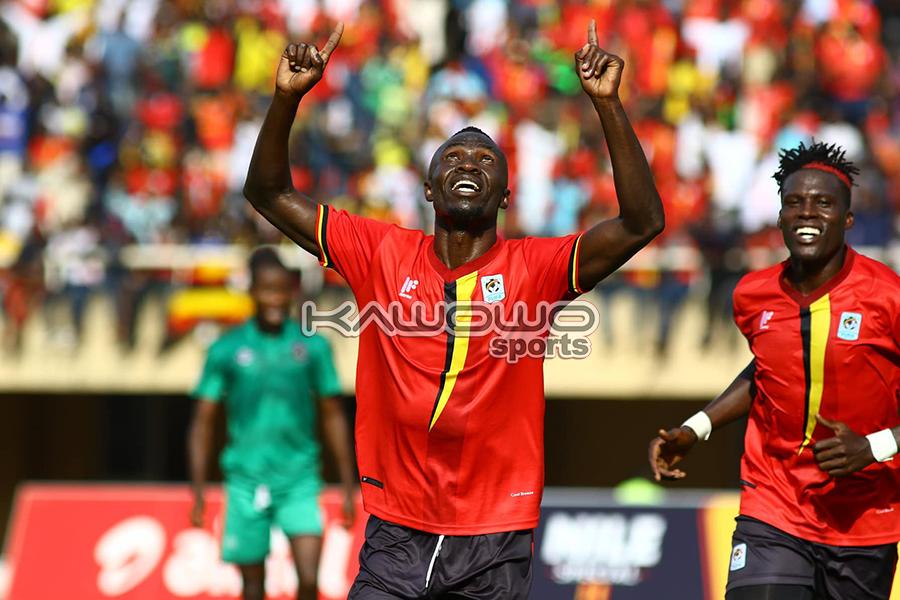 AFCON 2021 Qualifiers: Okwi, Bayo score to inspire Uganda Cranes over Malawi Flames #Uganda Okwi celebrates his goal UGAMAL Kawowo 900x600