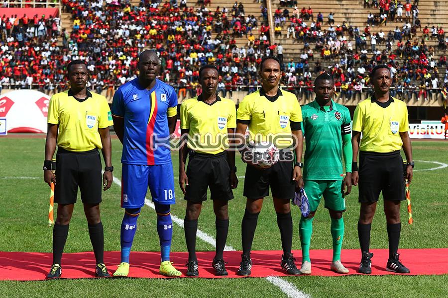 AFCON 2021 Qualifiers: Okwi, Bayo score to inspire Uganda Cranes over Malawi Flames #Uganda Onyango and Banda plus match referees UGAMAL Kawowo 900x600